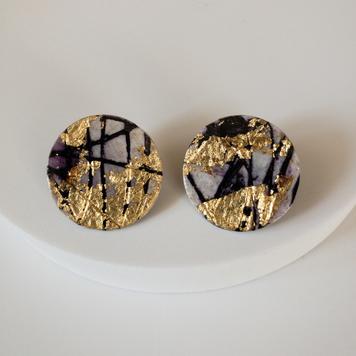 Ró sgraffito earrings