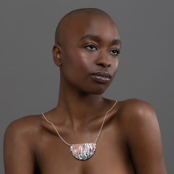 Sybby sgraffito neckpiece