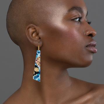 Beulah batik earrings