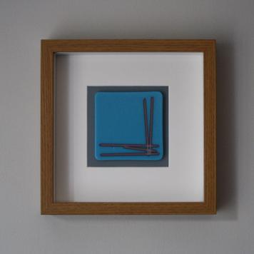 Cyan Blue 'Corner' Frame