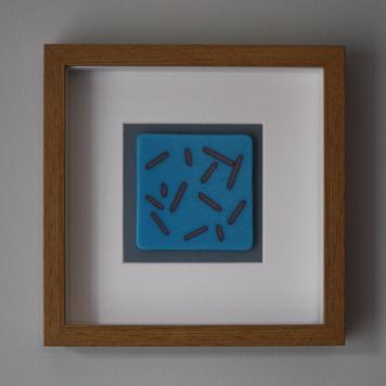 Cyan Blue 'Line Pattern' Frame