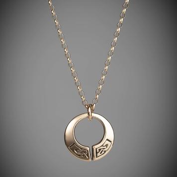 Gold Celtic Torc Pendant