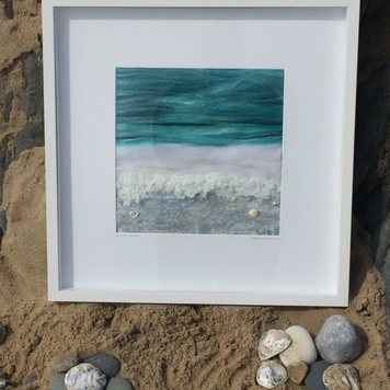 Textile Art - Silver Shore