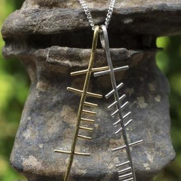 Anam Cara Sculpted double Pendant