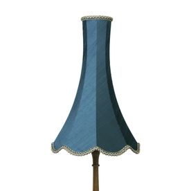 Pacific Blue Silk Chimney Bell Lampshade