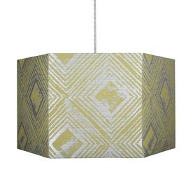 Ochre Hexagonal Pendant Lampshade