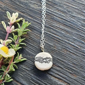 Porcelain landscape necklace