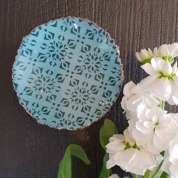 Patterned Lustre Dish