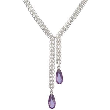"""""""Purple Drops"""" Necklace"""