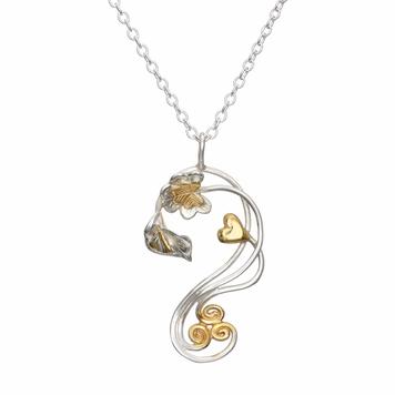 Éireann Pendant + 14ct Gold Elements