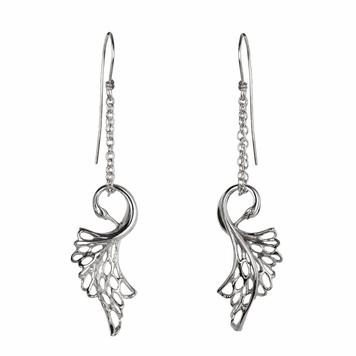 Children of Lir Swan Drop Earrings