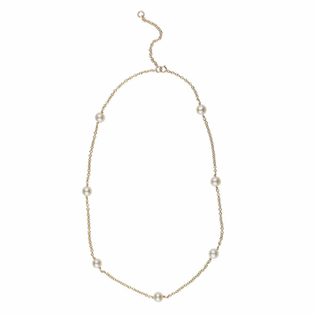 9ct gold and freshwater cultured pearl necklace