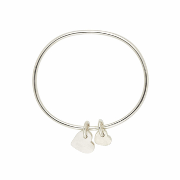 Wear your Love bangle - large and small heart duo