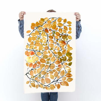 Autumn Beech Leaf Print