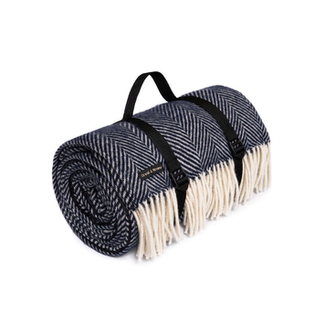 Tweed Picnic Blanket - Waterproof Backing