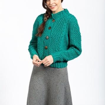 Eve Cardigan Handknit Aran