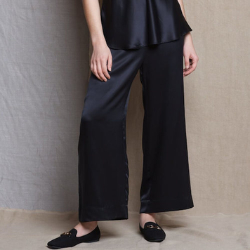 Síoda Wide Cropped Silk Trouser