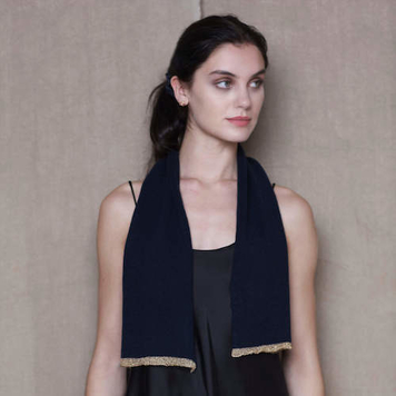 Cashmere Kitten 'Gold Tipped' Scarf