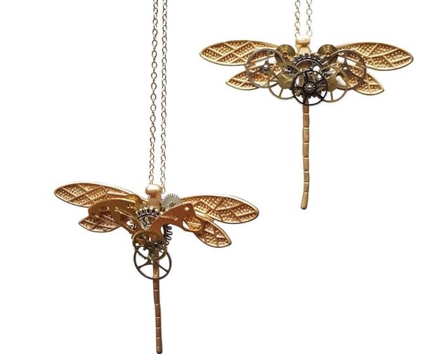 Steampunk Dragonfly Necklace Melanie Hand Design Jewellery 2